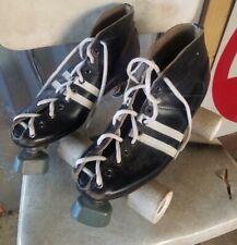 Vintage Reidell Roller Skates Sure Grip White Lighting Wheels Size 8