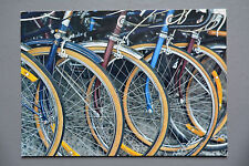 R&L Postcard: Robert  Hazzon, Unicef, Classic Vintage Bicycles Push-Bikes