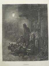 Gustave Dore London A Pilgrimage Houndsditch Poor Old Women Engraving 1872