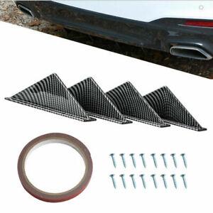 4Pcs Car Rear Bumper Lip Diffuser Shark Fins Spoiler Universal Fits VW GOLF MK