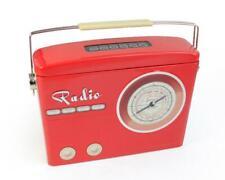 Silver Crane Company Dose Radio mit Henkel rot (s)