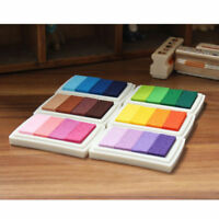 6-Farbe Stempelkissen Set Ink Pad Bunt Stempel Kissen DIY Finger Druck Handwerk
