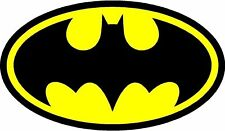 "2x BATMAN LOGO DECAL STICKER 5.6"" Laptop Comic Dark Knight Colored BUY2GET1FREE"