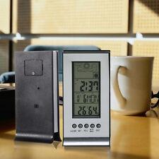 Wecker+LCD Digitales Hygrometer Feuchtigkeit Thermometer Temperatur Meter