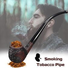 Ebony Wooden Wood Smoking Pipe Retro Vintage High-ended Tobacco Cigarette Cigar