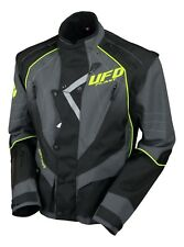 UFO Motocross Enduro Jacket Off Road Trail Adults Grey Black Neon Yellow M