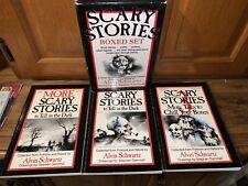 VG Scary Stories to Tell in the Dark, Rare Box Set, 3 Volumes Alvin Schwartz