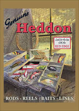 REPRINT PICTURE of older fishing sign HEDDON genuine rods reels baits line 5x7