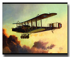 Handley Page O/400 biplane bomber RAF WW1 framed picture Keith Ferris