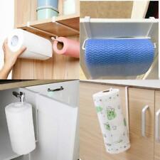 Cabinet Door Drawer Hanging Roll Paper Towel Holder Racks Kitchen Metal Q