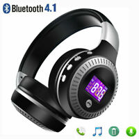 Wireless Bluetooth Headphones Foldable Stereo Headset Super Bass Earphones Mic