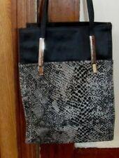 NICE Medium Leopard Black Shoulder Satchel Purse Bag Handbag Shopping Tote