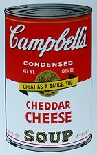 ANDY WARHOL CAMPBELLS' CHEDDAR CHEESE SOUP II Can SUNDAY B.MORNING 67/1500 LimEd