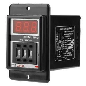 AC 220V 1.5W 50/60Hz Power On Delay Timer Time Relay ASY-3D (S/M) Waterproof