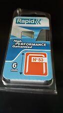 Tacker Klammern  Rapid  6mm  STAHL   1080 Stück   Rücken 11,4mm   rapid/novus