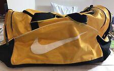 "Nike Duffel Bag Training Bag Sports Yellow Black Gym Size 21""X11""x12"""