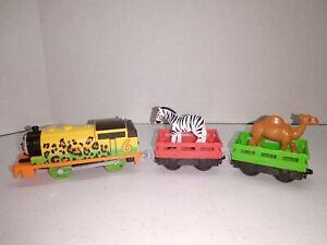 THOMAS & FRIENDS TRACKMASTER MOTORIZED ANIMAL PARTY PERCY & ANIMAL CARS EUC VHTF
