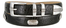 "Golf of Scottsdale - Mens Leather Italian Calfskin Concho Dress Belt 1-1/8"" Wide"
