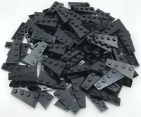 Lego 100 New Black Wedges Plates 4 x 2 Stud Left Wing Pieces
