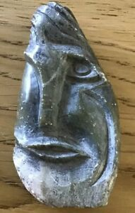 Carved Soapstone Sculpture 'Paranoid' Signed Andrew Ponton 1971