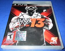 WWE '13 Sony PlayStation 3 *Factory Sealed! *Free Shipping!