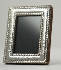 Piccolo Mini-Fotorahmen, 925 Argento, con Stare Terra + Vetro, 5x6,5 Cm. (H15)