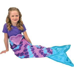 Snuggie Tails Mermaid Kids Blanket Sparkly Glitter One Size Fits Most