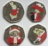 Peter Rabbit Beatrix Potter Christmas 2017 50p Sticker Decals Xmas GIFT NO COINS