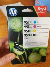 Genuine HP 951 XL Tinta De Impresora Negro Amarillo Cian Magenta Multipack