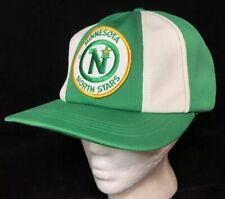 Vtg Minnesota North Stars SnapBack Hat NHL Hockey Team Logo Patch Cap Sports