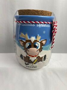 Reindeer in Here ~ Christmas Wishes Ceramic Jar Santa, Reindeer, Snowman Design