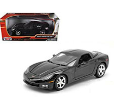 Scale 1:24 Model Chevrolet Corvette C6 2005 Diecast Car 73270 Black Detailed