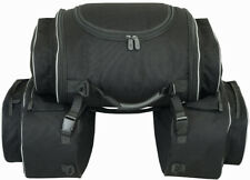Borse laterali con borsa posteriore per moto 74 litri, semirigide
