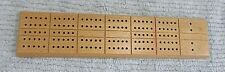 """Whitman Solid Light Tone Wood 11"""" Vintage Cribbage Board FREE S/H"""