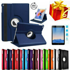 For iPad Air 1 2 Case Cover 360 Rotating Leather Folio Stand w/ Screen Protector