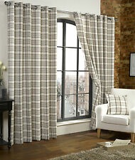 Unbranded Checked Curtains & Pelmets