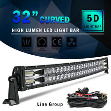 "32 inch LED Light Bar 5D Spot Flood Combo Offroad Driving Truck 4WD 30"" + Wiring"