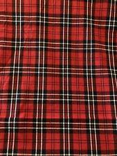 Red BLACK Tartan Plaid 100% COTTON Fabric by the Half Yard
