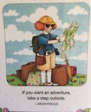Mary Engelbreit Handmade Magnet-If You Want An Adventure Take a Step Outside