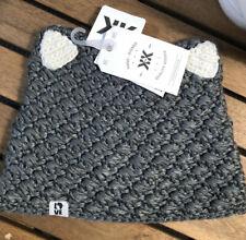 Krochet Kids International girl's beanie hat Cat cap Kids Youth Gray Cat Ears