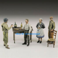 1/35 American soldiers and civilians Unpainted Resin Figure Model Kits 654