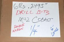 6 Pcs Cobalt 2495 Pilot Point Drill Bits 6 Dowel Pin 2500 Reamer 14