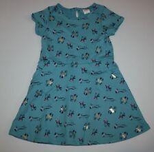 New Gymboree Ready Jet Go Line Turquoise Dog Puppy Print Dress NWT Sz 4T Girls