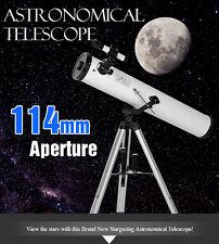 Astronomical Telescope w/ Metal Tripod 114mm Aperture 675x Zoom TL114A NEW