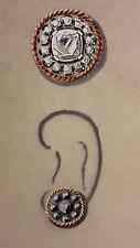 DESPRES Dessin original GOUACHE boucle d'oreille diamants rosace ART DECO 1930