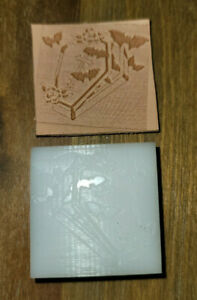 """""""Bats in a Coffin""""  Stamp..leather Press Tool DELRIN..NOT A HAMMER TOOL"""