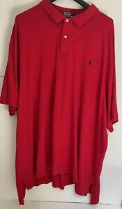 POLO RALPH LAUREN mens  polo shirt Red  size 4XB