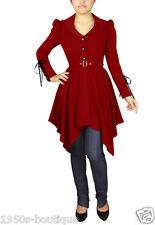 jacket gothic steampunk black coat victorian corset back women tailcoat womens 8