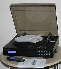 NEW NEOSTAR NTCD1B Vinyl to CD or Cassette USB Record Player Turntable - Black