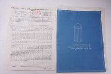 1933 Lamson Goodnow BLUEPRINT Government Contract Sugar Dispenser Ephemera P619H